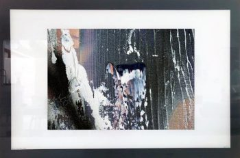 Print on Glass of Modern Art By Sarah Jane with White and Black Border - Anonymous XIIa