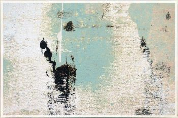 Print on Glass with Contemporary Art in soft colours By Australian Artist Sarah Jane with Thin White Border - Boardwalk IIa
