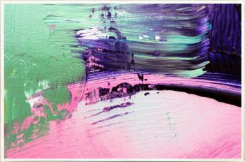 Print on Glass with Contemporary Art with pretty tones By Australian Artist Sarah Jane with Thin White Border - Colour me Happy IX