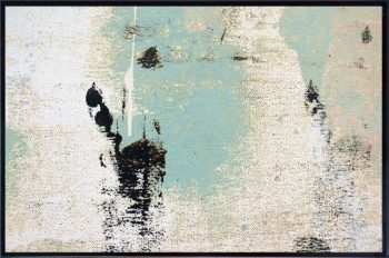 Print on Glass with Trendy Art in Soft Colour ones By Sarah Jane with Thin Black Border - Boardwalk IIa