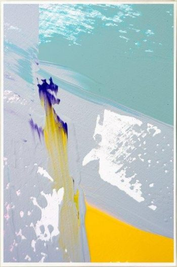 Print on Glass with fresh colours By Artist Sarah Jane with Thin White Border - Colour me Happy VIId