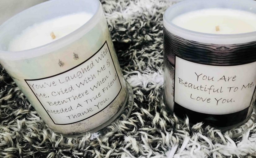 Put A Personal Message On A Candle By Sarah Jane