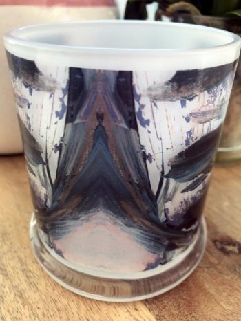 Sarah Jane Art on Glass Candleholder - Freedom IXb Back View