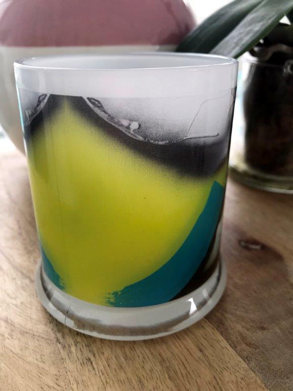 Sarah Jane Art on Glass Candleholder - Hidden Truth XVI Back View