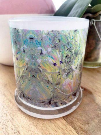 Sarah Jane Art on Glass Candleholder - New Life IVb Back View