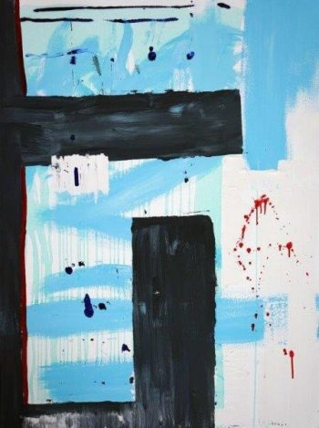 Sarah Jane Australian Artist exhibits an Original Modern Painting of the Twin Towers in New York named Hope