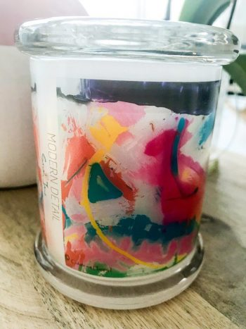 Sarah Jane Candle with Personal Message - Colour me Happy I