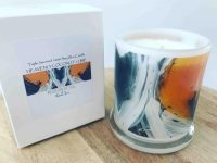 Sarah Jane Candle with beautiful on trend artwork - Playful Pair IIc