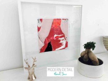 Sarah Jane Different Art Print called Unconditional Love LVb in a small white shadowbox frame - Modern Detail By Sarah Jane