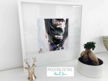 Sarah Jane Modern Abstract Art Print called Freedom IXb in a small white shadowbox frame - Modern Detail By Sarah Jane
