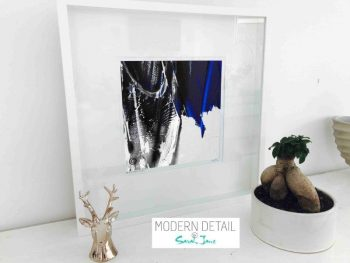 Sarah Jane Modern Art Print called Anonymous III in a small white shadowbox frame - Modern Detail By Sarah Jane