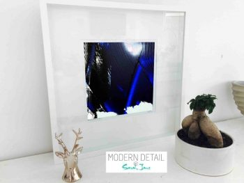 Sarah Jane Modern Art Print called Anonymous VI in a small white shadowbox frame - Modern Detail By Sarah Jane