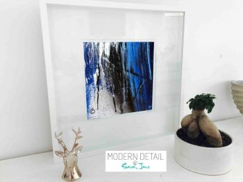 Sarah Jane Modern Art Print called Anonymous XIV in a small white shadowbox frame - Modern Detail By Sarah Jane