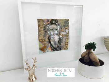 Sarah Jane Modern Art Print called Anonymous XXId in a small white shadowbox frame - Modern Detail By Sarah Jane