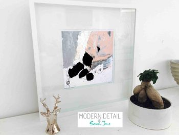 Sarah Jane Modern Art Print called Beautiful IV in a small white shadowbox frame - Modern Detail By Sarah Jane