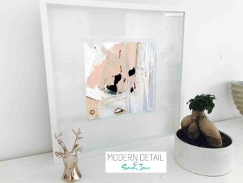 Sarah Jane Modern Art Print called Beautiful Soul III in a small white shadowbox frame - Modern Detail By Sarah Jane
