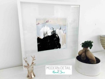 Sarah Jane Modern Art Print called Beautiful Soul IX in a small white shadowbox frame - Modern Detail By Sarah Jane