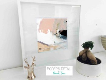 Sarah Jane Modern Art Print called Beautiful Soul VII in a small white shadowbox frame - Modern Detail By Sarah Jane
