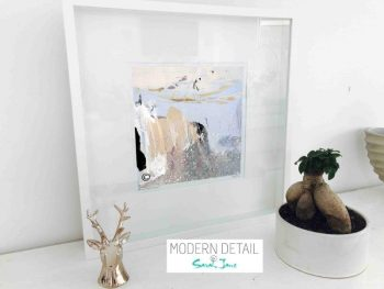 Sarah Jane Modern Art Print called Beautiful Soul XI in a small white shadowbox frame - Modern Detail By Sarah Jane