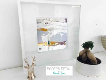 Sarah Jane Modern Art Print called Beautiful Soul XIII in a small white shadowbox frame - Modern Detail By Sarah Jane