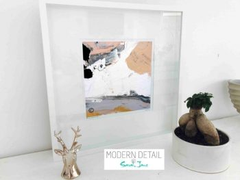 Sarah Jane Modern Art Print called Beautiful VI in a small white shadowbox frame - Modern Detail By Sarah Jane