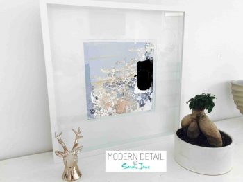 Sarah Jane Modern Art Print called Beautiful VIII in a small white shadowbox frame - Modern Detail By Sarah Jane