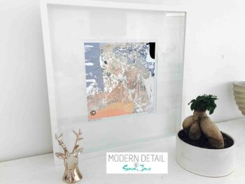 Sarah Jane Modern Art Print called Beautiful X in a small white shadowbox frame - Modern Detail By Sarah Jane