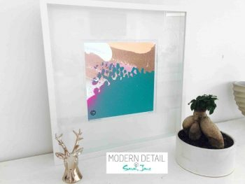 Sarah Jane Modern Art Print called Being Watched VIIIa in a small white shadowbox frame - Modern Detail By Sarah Jane