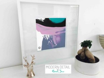 Sarah Jane Modern Art Print called Being Watched XVIf in a small white shadowbox frame - Modern Detail By Sarah Jane