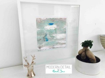 Sarah Jane Modern Art Print called Boardwalk IIIe in a small white shadowbox frame - Modern Detail By Sarah Jane