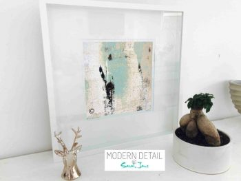 Sarah Jane Modern Art Print called Boardwalk IIa in a small white shadowbox frame - Modern Detail By Sarah Jane