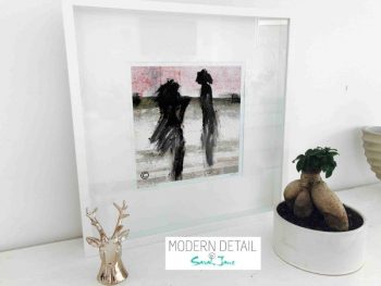 Sarah Jane Modern Art Print called Boardwalk Ve in a small white shadowbox frame - Modern Detail By Sarah Jane