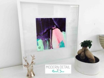 Sarah Jane Modern Art Print called Colour me Happy X in a small white shadowbox frame - Modern Detail By Sarah Jane