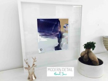 Sarah Jane Modern Art Print called Colour me Happy XIIIe in a small white shadowbox frame - Modern Detail By Sarah Jane