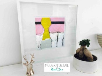 Sarah Jane Modern Art Print called Cozzie IId in a small white shadowbox frame - Modern Detail By Sarah Jane
