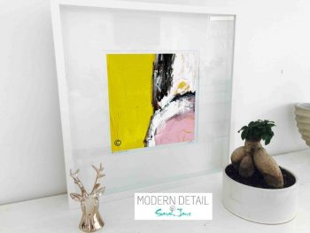 Sarah Jane Modern Art Print called Cozzie VIIId in a small white shadowbox frame - Modern Detail By Sarah Jane