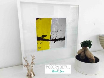 Sarah Jane Modern Art Print called Cozzie VIIb in a small white shadowbox frame - Modern Detail By Sarah Jane