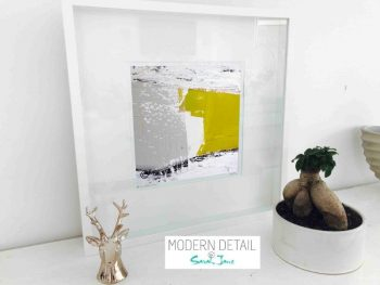 Sarah Jane Modern Art Print called Cozzie Va in a small white shadowbox frame - Modern Detail By Sarah Jane