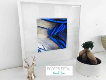 Sarah Jane Modern Art Print called Faceless III in a small white shadowbox frame - Modern Detail By Sarah Jane