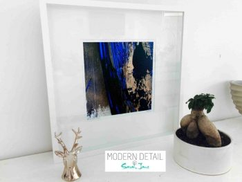 Sarah Jane Modern Art Print called Faceless X in a small white shadowbox frame - Modern Detail By Sarah Jane