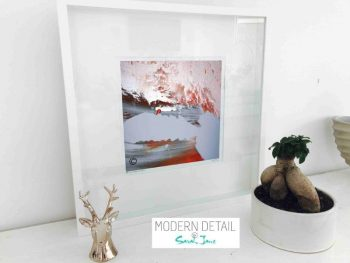 Sarah Jane Modern Art Print called Freedom IIIa in a small white shadowbox frame - Modern Detail By Sarah Jane