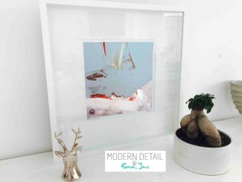 Sarah Jane Modern Art Print called Freedom XIVa in a small white shadowbox frame - Modern Detail By Sarah Jane