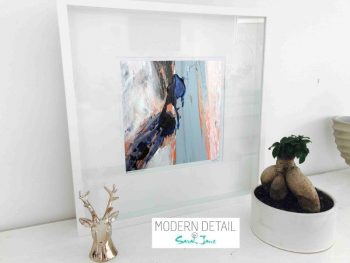 Sarah Jane Modern Art Print called Freedom XVIIIa in a small white shadowbox frame - Modern Detail By Sarah Jane