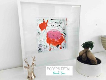 Sarah Jane Modern Art Print called Goatey I in a small white shadowbox frame - Modern Detail By Sarah Jane