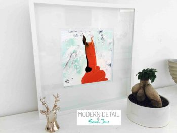 Sarah Jane Modern Art Print called Goatey II in a small white shadowbox frame - Modern Detail By Sarah Jane