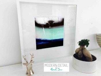Sarah Jane Modern Art Print called Hidden Truth V in a small white shadowbox frame - Modern Detail By Sarah Jane