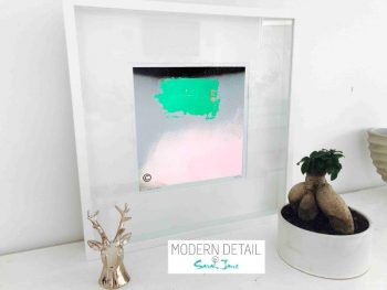 Sarah Jane Modern Art Print called Hidden Truth Xb in a small white shadowbox frame - Modern Detail By Sarah Jane