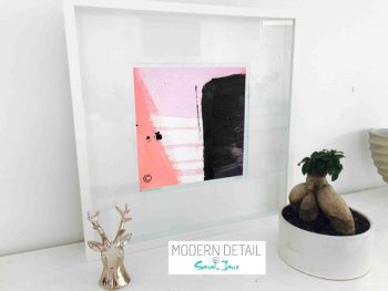 Sarah Jane Modern Art Print called Hope IVa in a small white shadowbox frame - Modern Detail By Sarah Jane