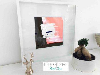 Sarah Jane Modern Art Print called Hope VIa in a small white shadowbox frame - Modern Detail By Sarah Jane