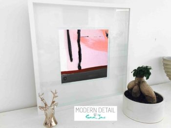 Sarah Jane Modern Art Print called Hope Va in a small white shadowbox frame - Modern Detail By Sarah Jane